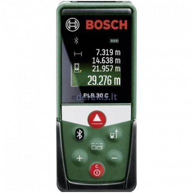 Lazerinis atstumų matuoklis BOSCH PLR 30 C (0603672120)