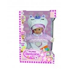 Lėlė-kūdikis su miegmaišiu, su šviesa ir melodija, BAMBOLINA FB375