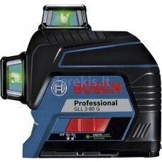 Linijinis lazerinis nivelyras Bosch GLL 3-80 G Professional 0601063Y00