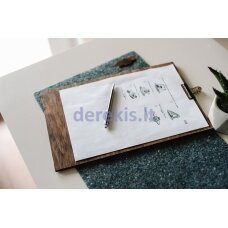 Wooden base for writing