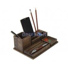 Wooden table organizer