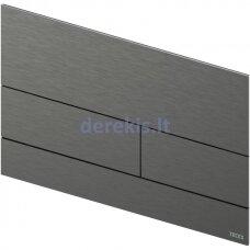 Metalinė vandens nuleidimo plokštelė TECEsquare II, matinė Black Chrome, 9240836