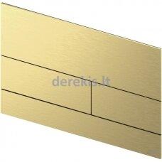 Metalinė vandens nuleidimo plokštelė TECEsquare II, matinė Gold Optic, 9240838