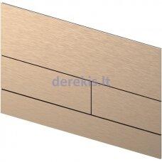 Metalinė vandens nuleidimo plokštelė TECEsquare II, matinė Red Gold, 9240840