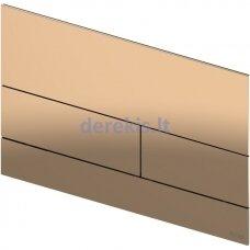 Metalinė vandens nuleidimo plokštelė TECEsquare II, poliruota Red Gold, 9240841