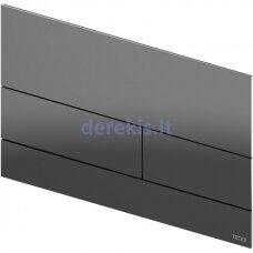 Metalinė vandens nuleidimo plokštelė TECEsquare II, poliruota Black Chrome, 9240837