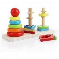 Montessori spalvų ir formų delionė
