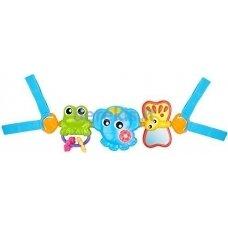 Muzikinis vežimėlio žaislas Playgro Travel Trio Musical, 0186984