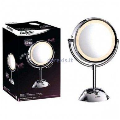 Nerūdyjančio plieno veidrodis su stovu BABYLISS 8438E 2