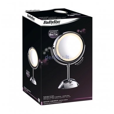 Nerūdyjančio plieno veidrodis su stovu BABYLISS 8438E 3