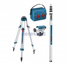 Optinis nivelyras Bosch GOL 26 D Professional + stovas BT160 + liniuotė GR500, 0601068002
