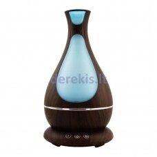 Oro drėkintuvas su aroma MiniMu, šviečiantis 7 spalvomis, 400 ml talpos indas vandeniui