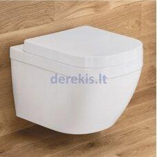 Pakabinamas klozetas su lėtaeigiu dangčiu Grohe Euro Ceramic Rimless 39328000