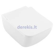 Pakabinamas klozetas su soft close dangčiu Villeroy & Boch Venticello, CeramicPlus, 4611RLR1