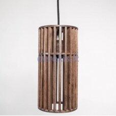 Wooden pendant lamp
