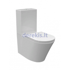 Pastatomas WC BATHCO NEW RONDA RIMLESS su SoftClose dangčiu, 4511R