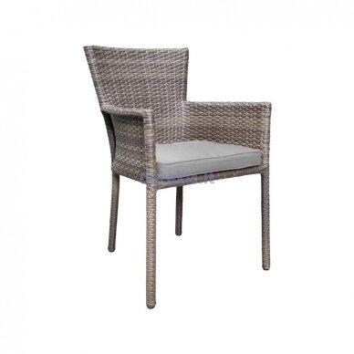 Paspauskite nuotrauką, kad ją padidintumėte Sodo kėdė Domoletti Parnu, pilka