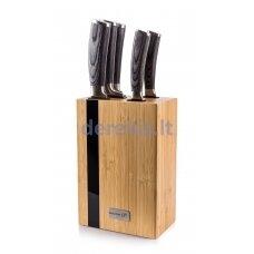 Set of knives G21 Gourmet Rustic 5 pcs + bamboo block, 6002237