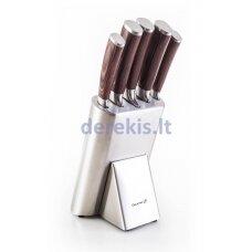 G21 Gourmet Steely knife set 5 pcs + stainless steel block, 60022164