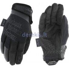 Pirštinės Mechanix The Original® WOMEN´s 0,5 visos juodos L dydis, 0,5mm storio delnas. Velcro, dirbtinė oda, TrekDry®, Lycra