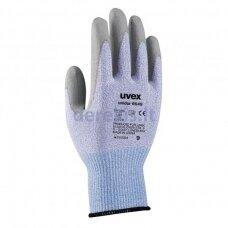 Pirštinės Uvex Unidur 6649, 3 lygio atsparumas pjūviams, Poliamidas, Elastanas/HPPE/stiklas. PU padengimas. Dydis 7