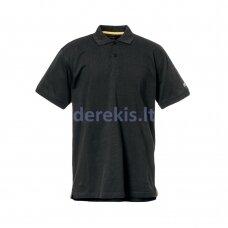 Polo marškinėliai CAT, juodi L dydis