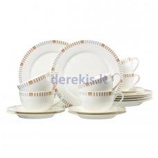 Porcelianinis indų rinkinys kavai Ritzenhoff & Breker Elba, 18 dalių