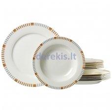 Porcelianinis lėkščių rinkinys Ritzenhoff & Breker Elba, 12 dalių