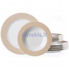Porcelianinis lėkščių rinkinys Ritzenhoff & Breker Genova, 12 dalių