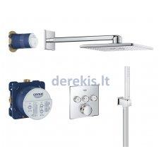 Potinkinis termostatinis dušo komplektas Grohe Grohtherm SmartControl Cube 34706000