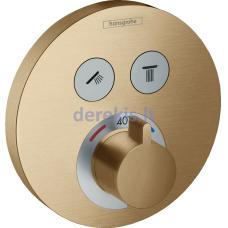 Potinkinis termostatinis dušo maišytuvas Hansgrohe ShowerSelect S 15743140, brushed bronze
