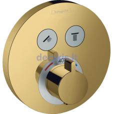 Potinkinis termostatinis dušo maišytuvas Hansgrohe ShowerSelect S 15743990, Polished Gold Optic