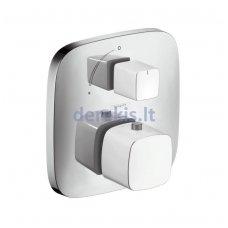 Potinkinis termostatinis maišytuvas, 1 krypties išbėgimas (baltos/chromo sp.) Hansgrohe PuraVida, 15775400