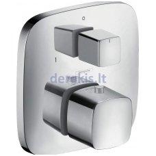 Potinkinis termostatinis maišytuvas, 2 krypčių išbėgimas(chromo sp.) Hansgrohe PuraVida, 15771000