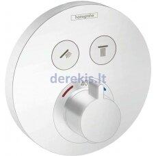 Potinkinis termostatinis maišytuvas Hansgrohe ShowerSelect S 15743700, baltas matinis