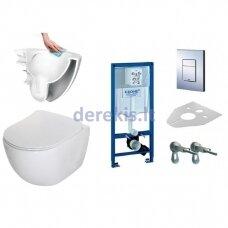 Potinkinis WC komplektas Grohe 38772001 + Deante Peonia Rimless