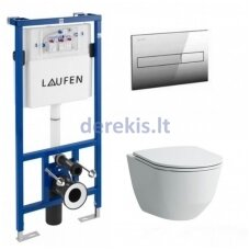 Potinkinis WC komplektas Laufen Pro New Rimless H8946600000001 + H8669570000001