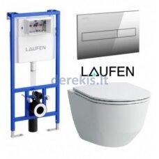 Potinkinis WC komplektas Laufen Pro New Slim 3, 8.2095.6.000.000.1+8.9896.6.000.001