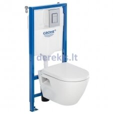 Potinkinis WC komplektas su soft close dangčiu Grohe Serel One SM10KSS110H+39186000