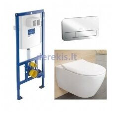 Potinkinis WC komplektas Villeroy & Boch 92246100+92249061+5614R201