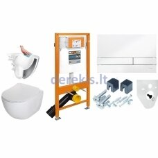 Potinkinis WC komplektas Werit 174-91100900-00 + Deante Peonia Rimless Slim