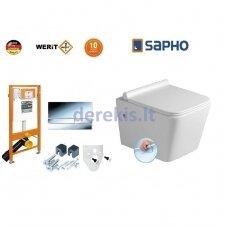 Potinkinis WC komplektas WERIT JOMO + Sapho Porto 174-91101300-00+PZ102R