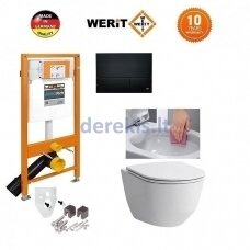 Potinkinis WC komplektas WERIT + Laufen Pro New 174-91102500-00+H8669570000001