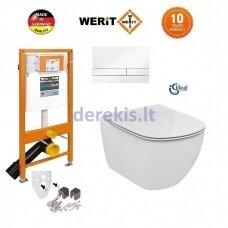 Potinkinis WC komplektas WERIT + Tesi AquaBlade 174-91100900-00+T007901+T352701