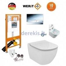 Potinkinis WC komplektas WERIT + Tesi AquaBlade 174-91101300-00+T007901+T352701