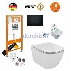 Potinkinis WC komplektas WERIT + Tesi AquaBlade 174-91102500-00+T007901+T352701