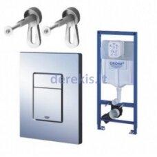 Potinkinis WC rėmas su nuleidimo klavišu Grohe 3in1 Rapid SL 38772001