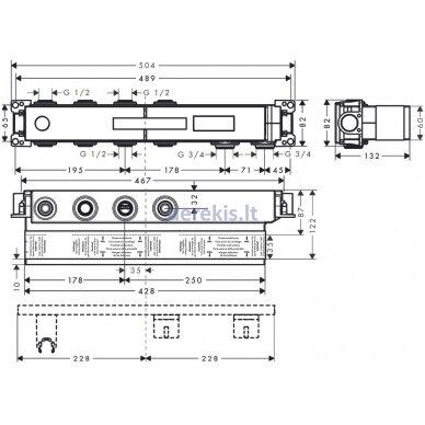 Potinkinė termostatinio maišytuvo dalis Hansgrohe RainSelect 15310180 2