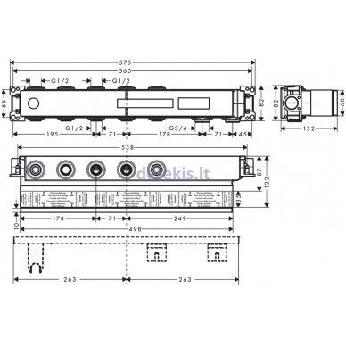 Potinkinė termostatinio maišytuvo dalis Hansgrohe RainSelect 15311180 2