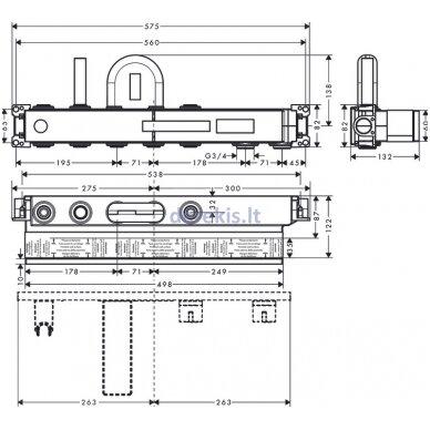 Potinkinė termostatinio maišytuvo dalis Hansgrohe RainSelect 15314180 2